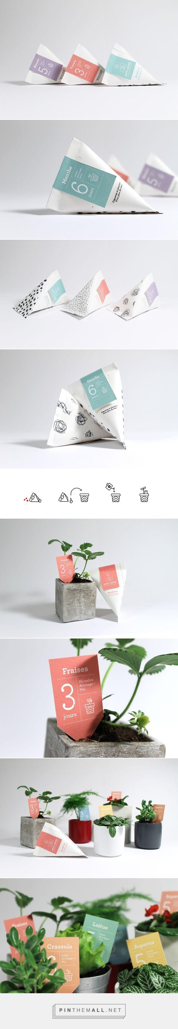 Anticrise seeds for indoor #gardening designed by Julie Ferrieux. #packaging #design