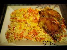 Carrot rice recipe (havij polo recipe) Persian rice with Chicken - YouTube