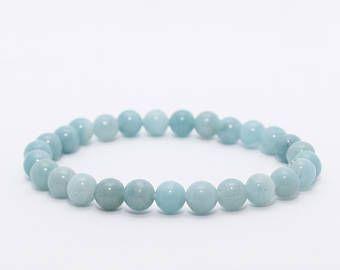 Amazonite Mala Bracelet. Calming Bracelet. Blue Minimalist Bracelet. Boho Jewelry. Yoga Bracelet.Healing Crystal Bracelet.