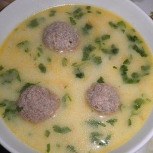 Cheese soup with meatballs. Recipes with photos.