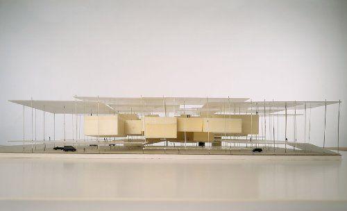 Herzog and De Meuron. Model for the Miami Art Museum building.