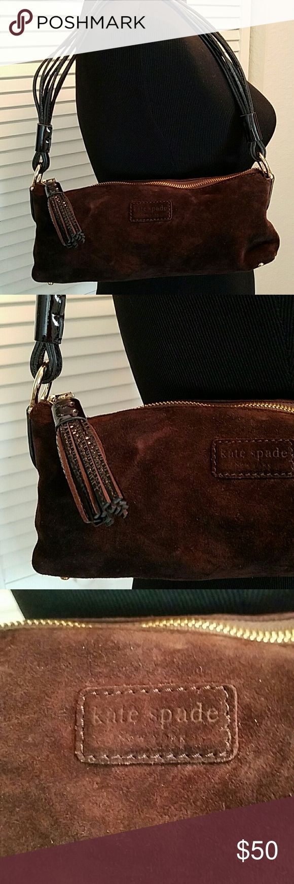 Rare KATE SPATE Suede Mini Satchel Handbag Pre owned but in great condition.  Barely used. Clean, cute and gorgeous bag. kate spade Bags Mini Bags