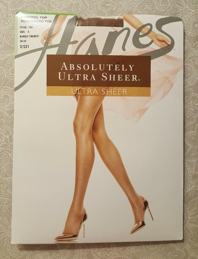 cdbb1ab7bda Hanes Absolutely Ultra Sheer Control Top Pantyhose Hosiery - Women s  706  Sheer Control Ultra