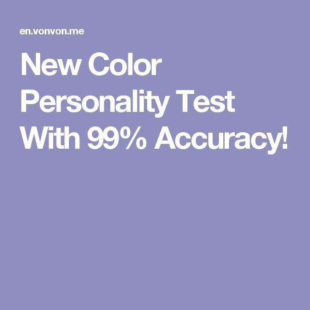 17    Color Personality Test  Pinterest