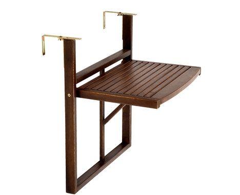 Na úzkém balkoně oceníte závěsný stolek. Cena 1290 Kč; Butlers