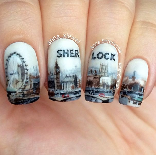 "decadentwallpaper: "" nailpornography: "" Sherlock "" omg """