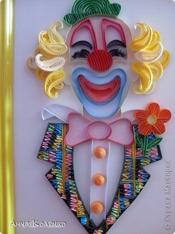 Картина панно рисунок Квиллинг К нам приехал цирк Бумажные полосы фото 9