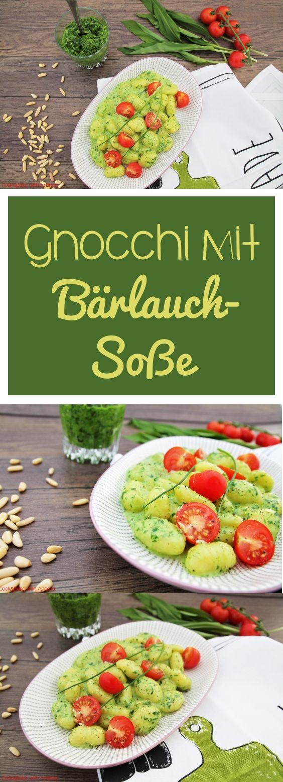 Gnocchi mit Bärlauchpesto und Frischkäse - Frühling - www.candbwithandrea.com - Rezept - Collage