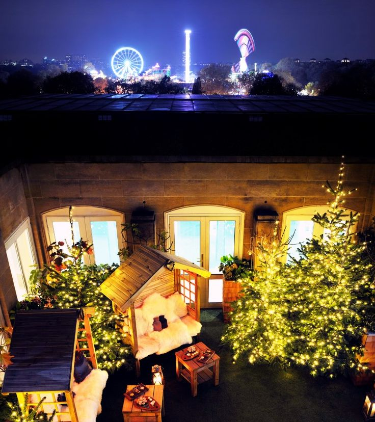 The LuxPad | Experience one of London's most unique festive experiences this year at The Berkeley's alpine inspired roof-top cinema complete with rustic ski chalets…