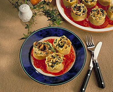 Veggie Lasagne rolls