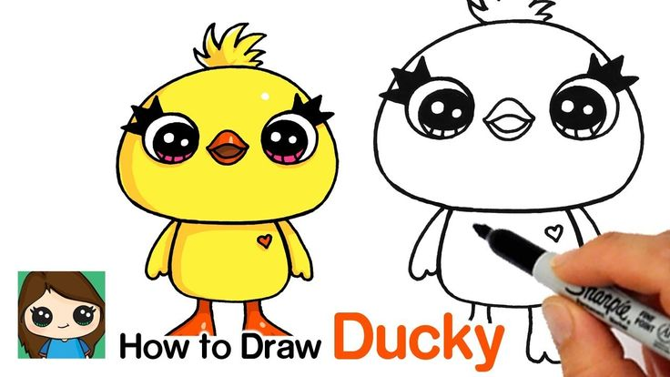 How to Draw Ducky Easy | Toy Story 4 | Toy story coloring ...