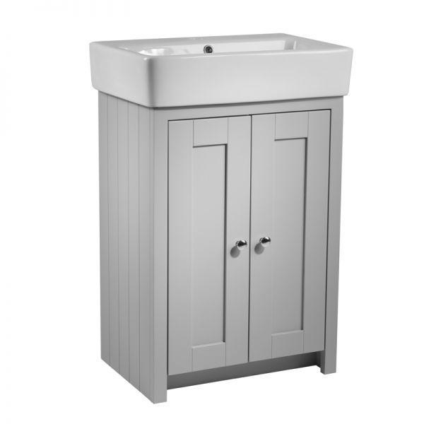 Lansdown 550 Freestanding Unit - Pebble Grey