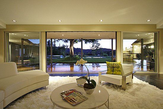 Miley Cyrus's House in Studio City, CA - beautiful pool - but not sure about the shag carpet...