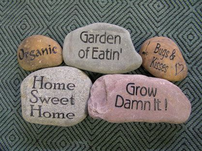 Make homemade carvings by hand with a rock and dremel tool! Just some ideas...
