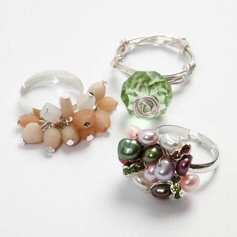Cluster beaded wire ring tutorial