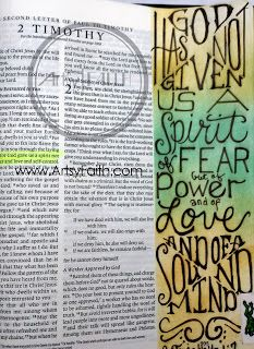 Artsy Faith | 2 Timothy 1:7  Week 1 download of FREE Bible Art Journaling Class