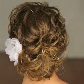I found this picture before my wedding and this is how I had my hair done.  I found this before my dress.
