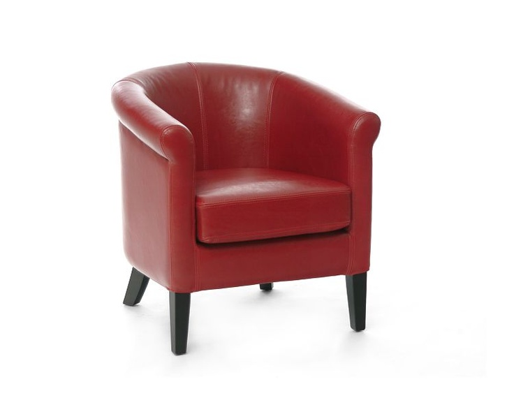 Structube Living Room Armchairs Yves 2 Red Decor