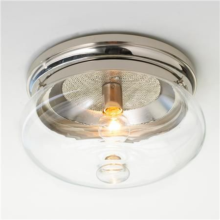 good hallway optio with satin nickle Clear Cloche Glass Ceiling Light $139 shades of light