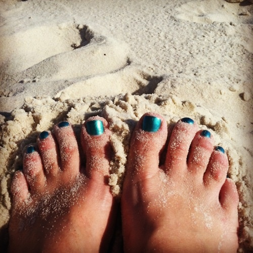 Anywhere we can put our toes in the sand is a good place for us.Sands Sigh, Toes