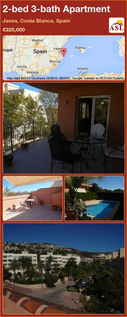 2-bed 3-bath Apartment in Javea, Costa Blanca, Spain ►€325,000 #PropertyForSaleInSpain