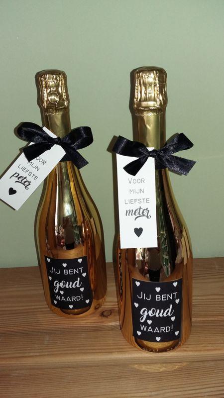 Chardonnay Gold - Jij bent GOUD waard! Voor de liefste meter/peter <3 www.zoetgeluk.be <3