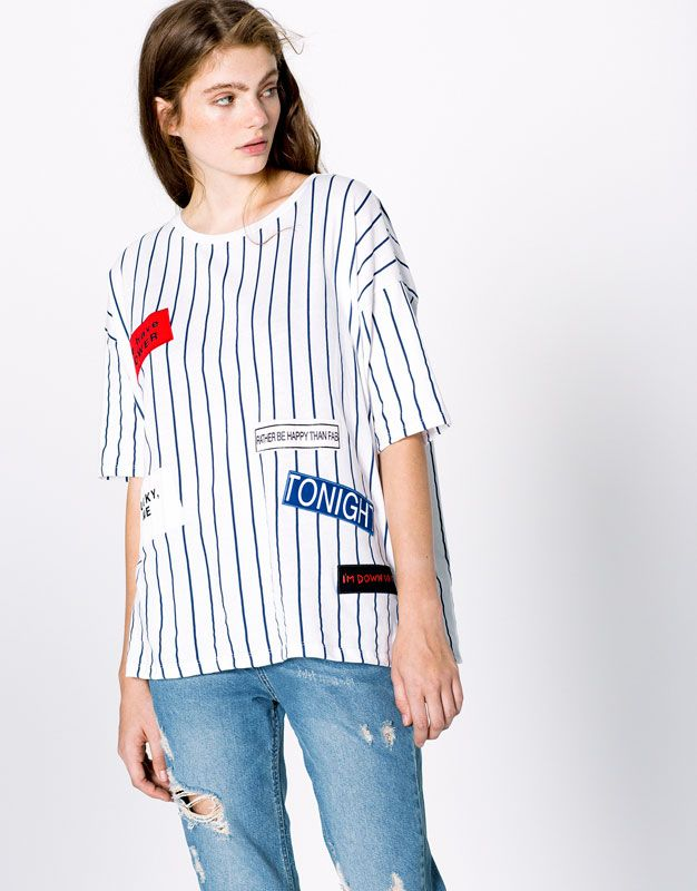 T-SHIRT MET PATCHES - T-SHIRTS - DAMES - PULL&BEAR Netherlands