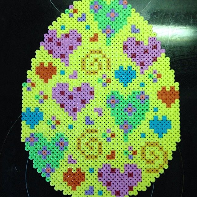 Easter egg hama perler beads by ladykragh