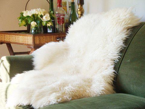 White sheepskins