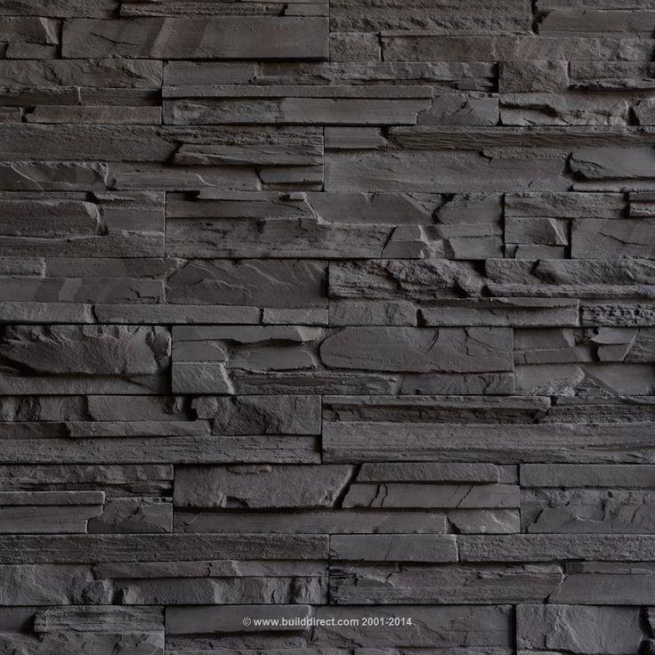Excellent color! (Premium Manufactured Stone Veneer - Classic Ledge Stone - Granite Gray)