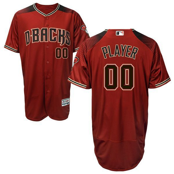2ddb1dfae Men Arizona Diamondbacks Majestic Red Alternate Brick Flex Base Authentic  Collection Custom MLB Jersey