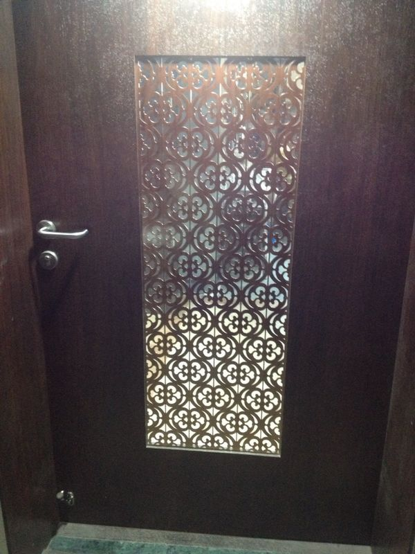 Office Main Door Grill In MS Laser Cut. #stahldecor #maindoorgrills #maindoorjaali # : door grates - Pezcame.Com