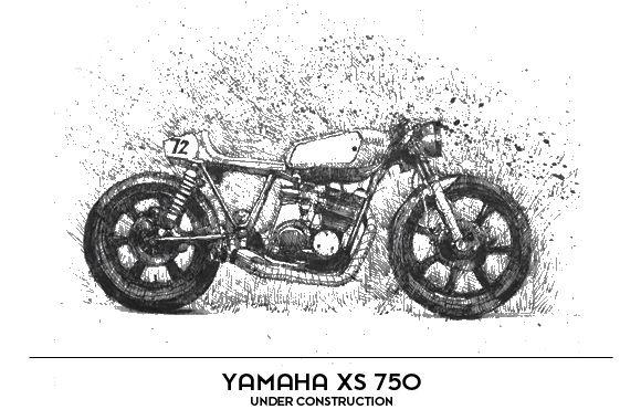 Yamaha xs 750 – under construction…