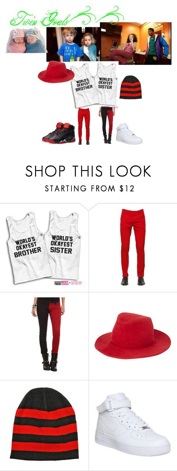 """Twin Goals👫❣"" by estheradu ❤ liked on Polyvore featuring Dolce&Gabbana, Tripp, rag & bone, NIKE and Jordan Brand"