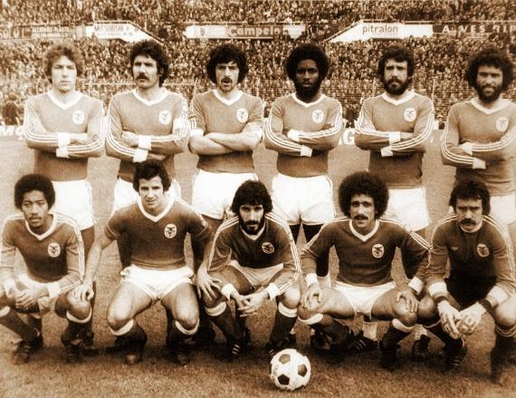 Chalana Benfica: BENFICA 1977-78. Debout: Eurico, Toni, Antonio Bastos