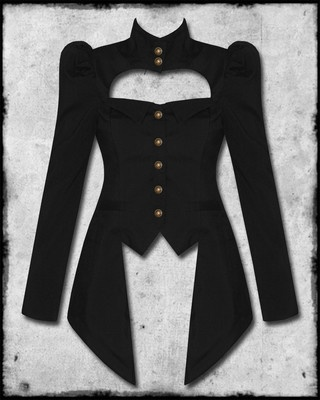 Spin Doctor Amadeus Black Copper Steampunk Victorian Goth Ladies Military Jacket | eBay