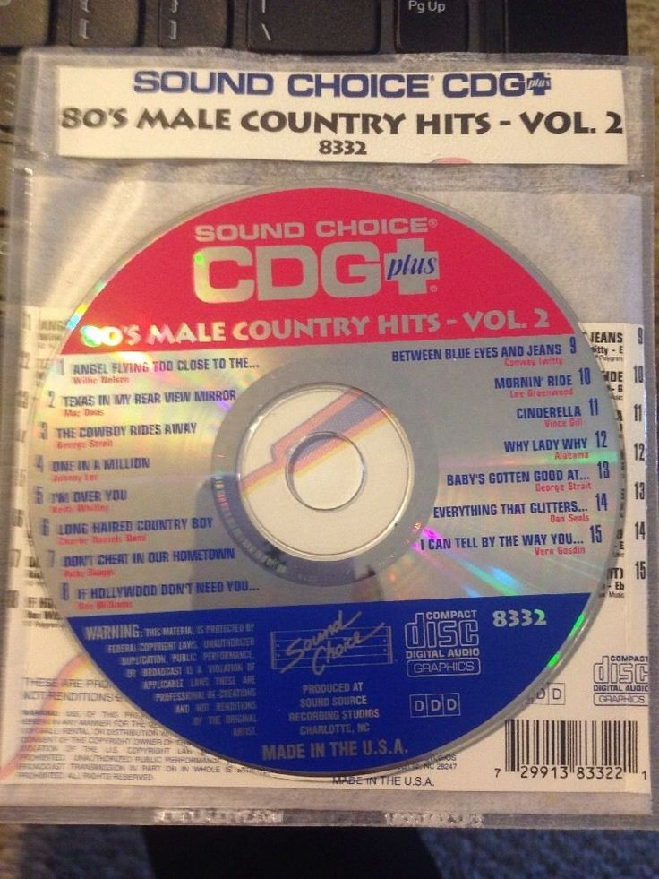 Sound Choice CDG Laser Disc Karaoke #8332 80's Male Country Hits Volume #2 #SoundChoice