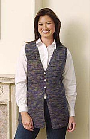 Free Knitting Pattern 20150 Knit Slimline Vest : Lion Brand Yarn Company