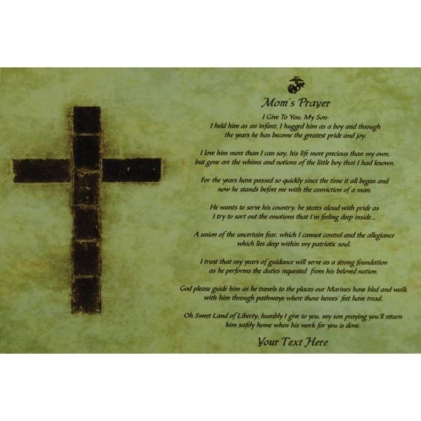 marine mom prayer plaque