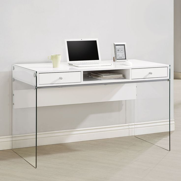 Coaster Furniture Glass Sided Computer Desk - 800829