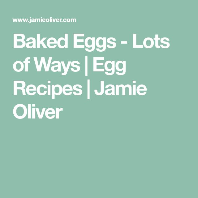 Baked Eggs - Lots of Ways   Egg Recipes   Jamie Oliver