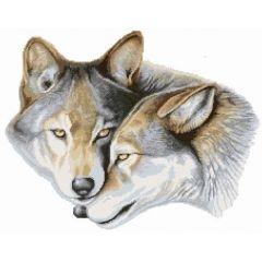 Набор для вышивания: Два волка