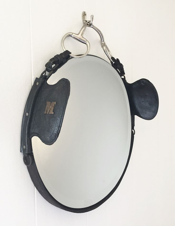Leather Equestrian Draught Blinder Mirror
