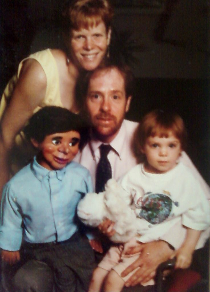 """Akward Family Photos - """"Yes, my father's ventriloquist dummy, Gurgle Worthington, was a part of the family."""" (submitted by Aubrey)"""