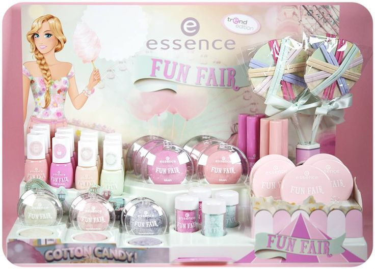 "hi beauties, it's time for fun! our new ""fun fair"" trend edtion has already been seen in stores. the collection includes super sweet products in pastel shades like vanilla, apricot, rosé, mint and lavender.  check it out here: http://www.essence.eu/en/trend-editions/fun-fair/"