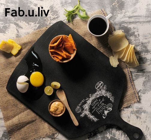 This vintage black chopping board is an epitome of classical curio items. This single product has various applications depending upon the occasion. Use it for designing a cheese platter for those special parties or a tea tray. You may also use it as a chalkboard tray. It is sure to fetch you compliments. Buy now ---> https://goo.gl/UyzuYs