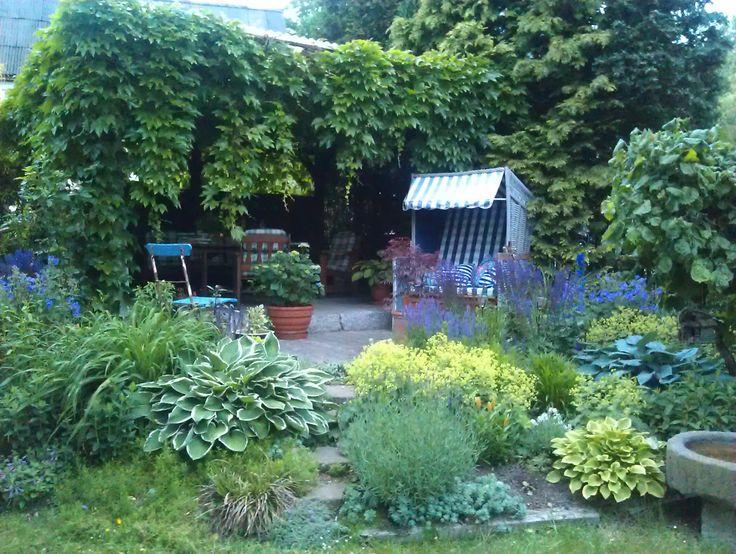 12 besten Sitzecken Garten Bilder auf Pinterest Verandas, Garten - sitzecke im garten mit steinmauer