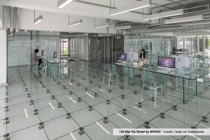 """Vanity and Isy Antishock by SCAB Design for """"The Office Made of Glass"""" in Hong Kong."""