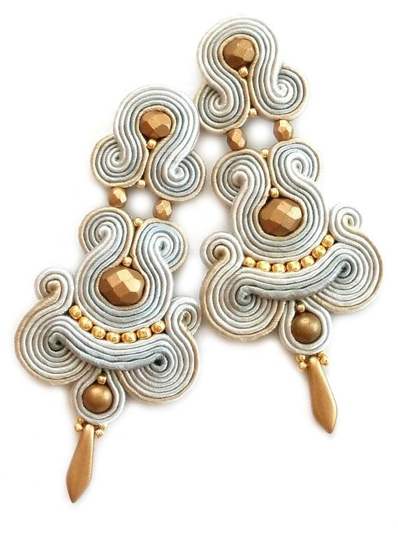 Soutache earrings Cl beauty bling jewelry fashion
