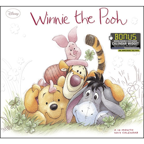 Winnie the Pooh Wall Calendar: Disney's cuddliest character has a brand awareness that spans all ages and generations. This calendar's storybook art and nostalgic appeal keep Winnie and friends fresh with parents and children.  $14.99  http://calendars.com/Disney/Winnie-the-Pooh-2013-Wall-Calendar/prod201300000546/?categoryId=cat00144=cat00144#